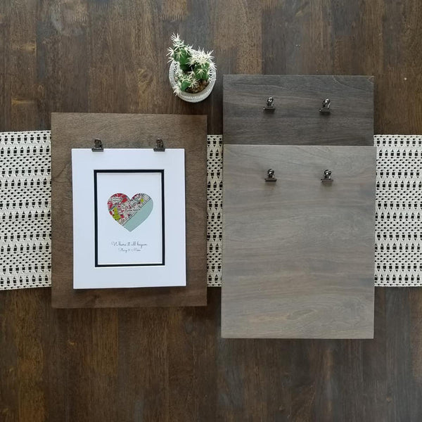 Add This Clipboard Frame to Your Order - Custom Clipboard Framed Made to Order- Distressed Wood Frame - Rustic Wood