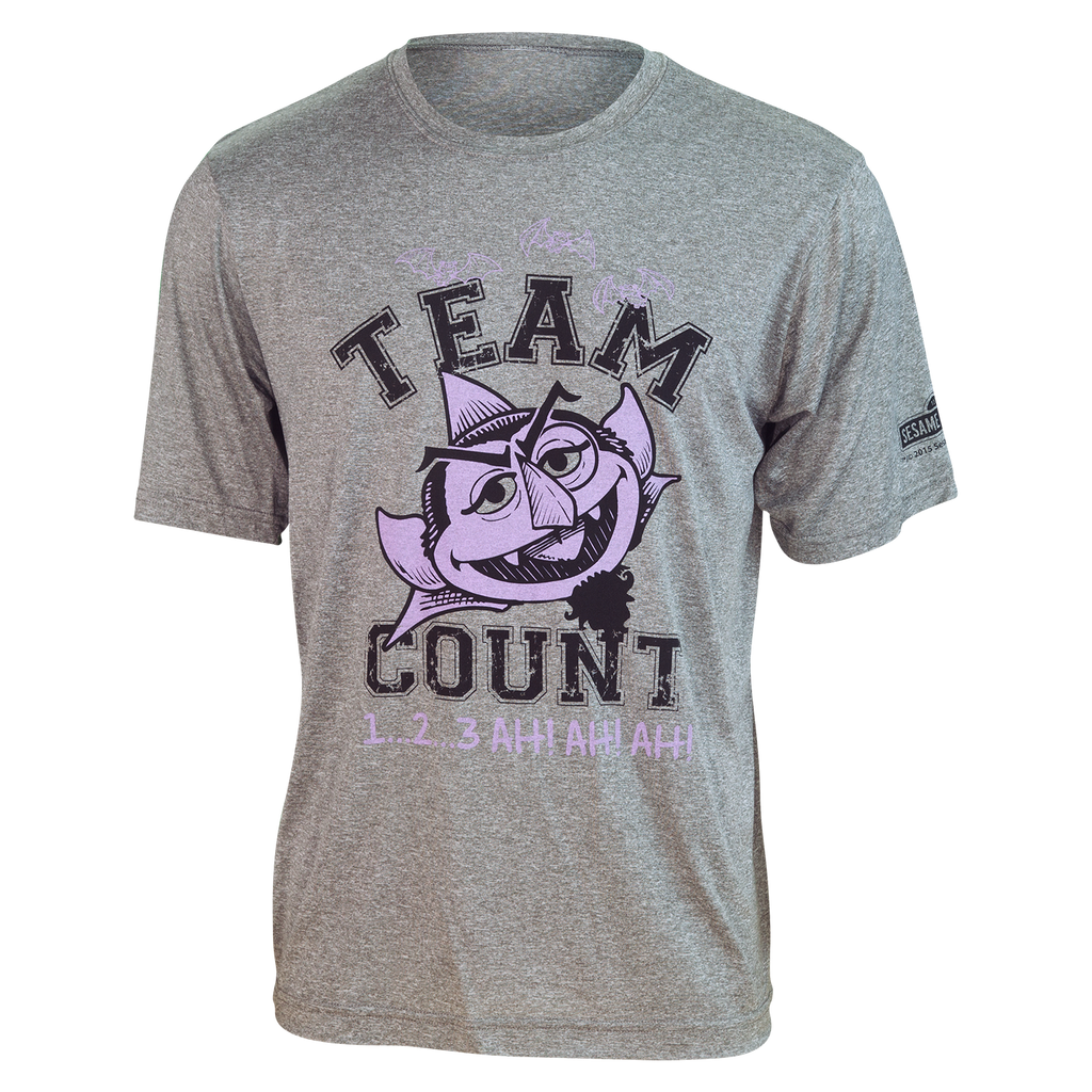 "TEAM COUNT ""1...2...3  Ah! Ah! Ah!"" Running Shirt (unisex)"