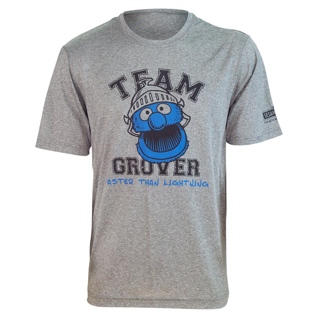 "TEAM GROVER ""Faster Than Lightning!"" Running Shirt (unisex)"