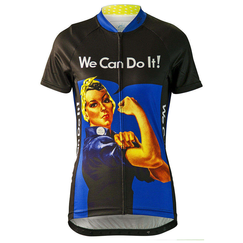 Rosie the Riveter Blue Cycling Jersey (Women's)