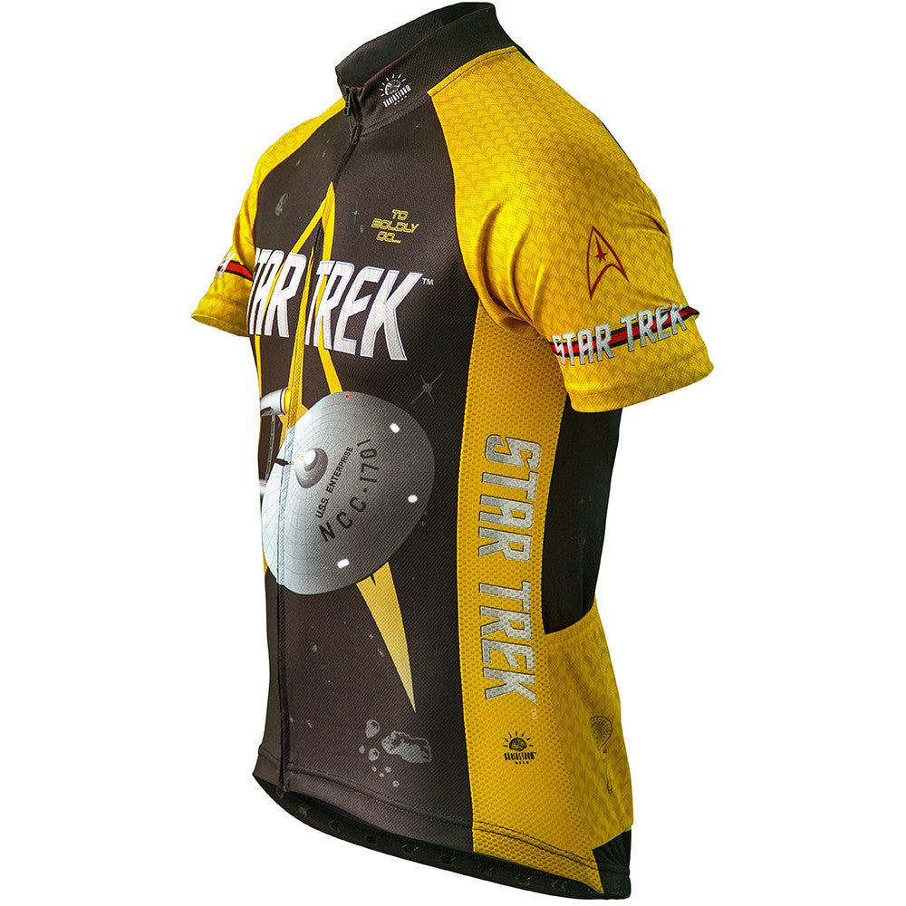 3fb69427c Star Trek Command Cycling Jersey Gold Uniform Mens   Brainstorm Gear
