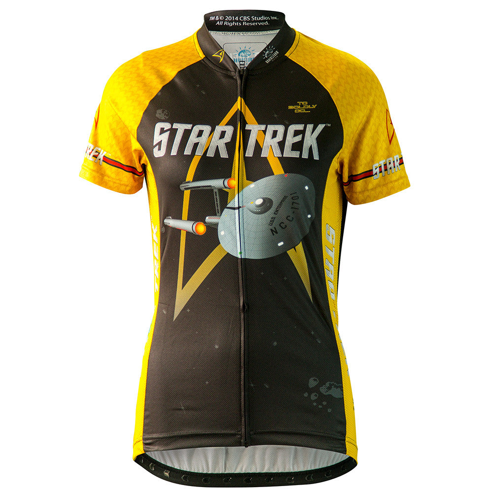 cc6d9719f Star Trek Command Gold Womens Uniform Cycling Jersey   Brainstorm Gear