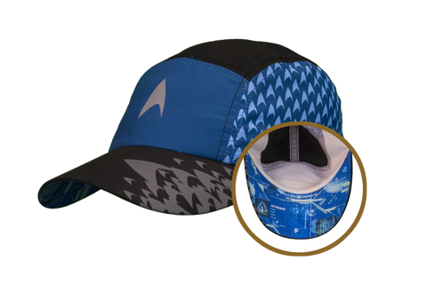 "Star Trek ""Science Blue"" Featherweight Running Hat (one size fits most)"