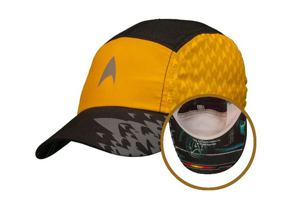 "Star Trek ""Command Gold"" Featherweight Running Hat (one size fits most)"