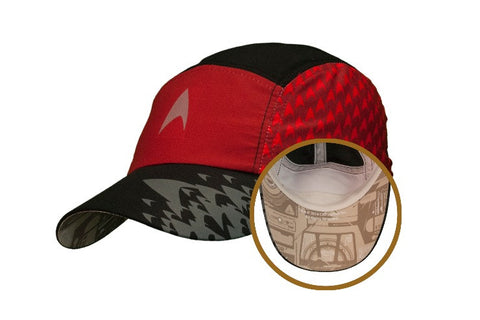 "Star Trek ""Engineering Red"" Featherweight Running Hat (one size fits most)"