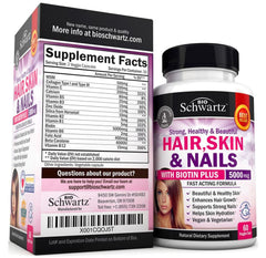 Hair, Skin & Nails Vitamins with Biotin 5000 mcg