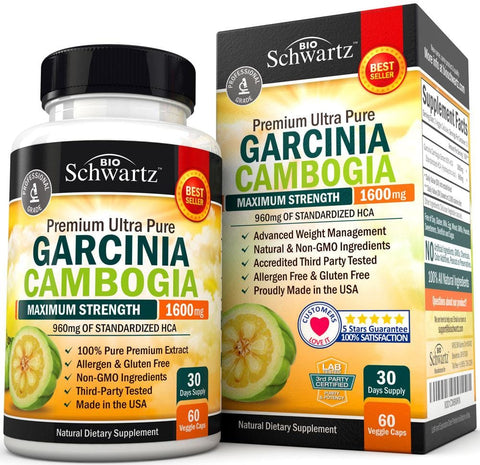 Pure Garcinia Cambogia with 960mg of HCA - Carb Blocker & Fat Burner