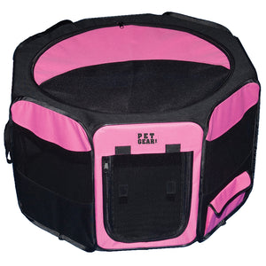 "Octagon Pet Pen With Removable Top, 36"", Pink"