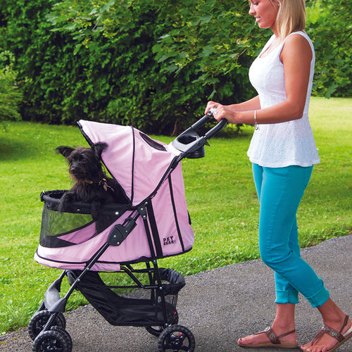 Happy Trails No-Zip Stroller, Pink Diamond