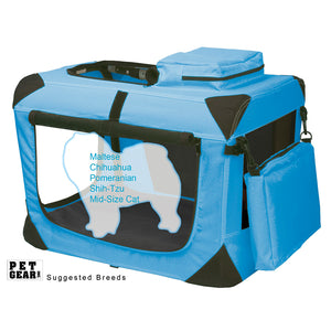 "Generation II Deluxe Portable Soft Crate, 21"", with Pad and Storage Pouches, Ocean Blue"