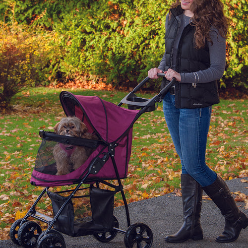 Happy Trails Lite No-Zip Pet Stroller, Boysenberry