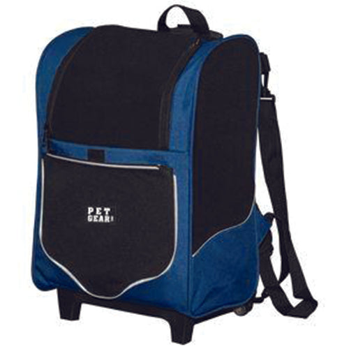 I-GO2 (Sport) 5-in-1 Pet Carrier [Backpack/Tote/Roller Bag/Carrier/Car Seat], Misty Blue