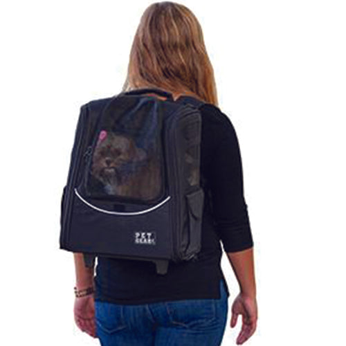 I-GO2 (Escort) 5-in-1 Pet Carrier [Backpack/Tote/Roller Bag/Carrier/Car Seat], Black