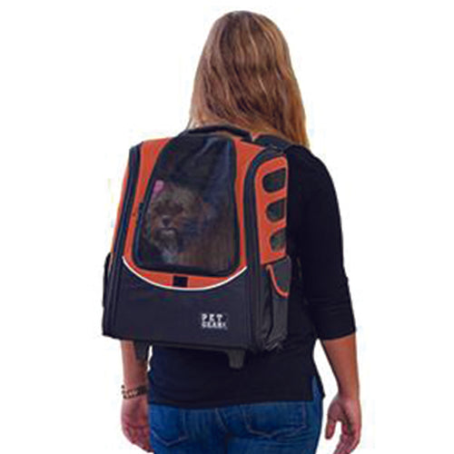 I-GO2 (Escort) 5-in-1 Pet Carrier [Backpack/Tote/Roller Bag/Carrier/Car Seat], Copper