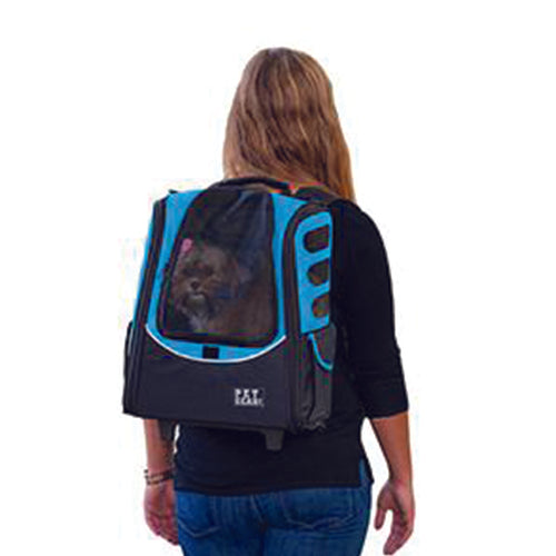 I-GO2 (Escort) 5-in-1 Pet Carrier [Backpack/Tote/Roller Bag/Carrier/Car Seat], Ocean Blue