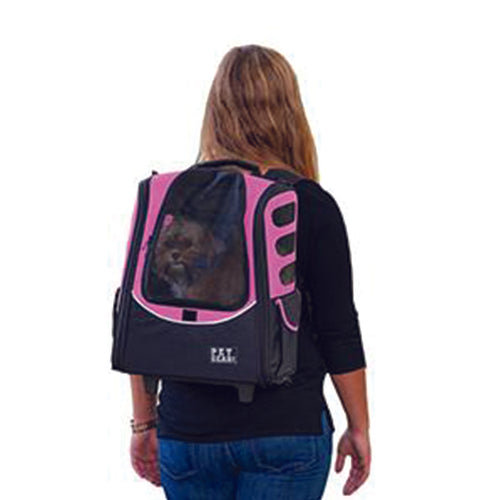 I-GO2 (Escort) 5-in-1 Pet Carrier [Backpack/Tote/Carrier/Car Seat], Pink