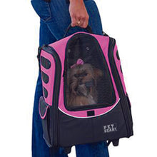 I-GO2 (Escort) 5-in-1 Pet Carrier [Backpack/Tote/Roller Bag/Carrier/Car Seat], Pink