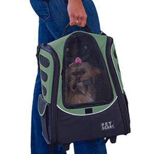 I-GO2 (Escort) 5-in-1 Pet Carrier [Backpack/Tote/Roller Bag/Carrier/Car Seat], Sage