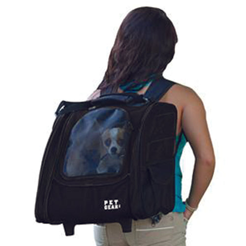 I-GO2 (Traveler) 5-in-1 Pet Carrier [Backpack/Tote/Roller Bag/Carrier/Car Seat], Black