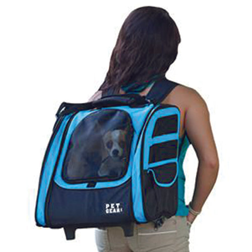 I-GO2 (Traveler) 5-in-1 Pet Carrier [Backpack/Tote/Carrier/Car Seat], Ocean Blue