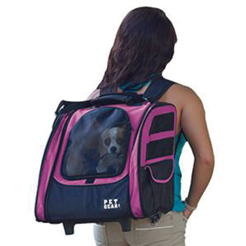 I-GO2 (Traveler) 5-in-1 Pet Carrier [Backpack/Tote/Carrier/Car Seat], Pink