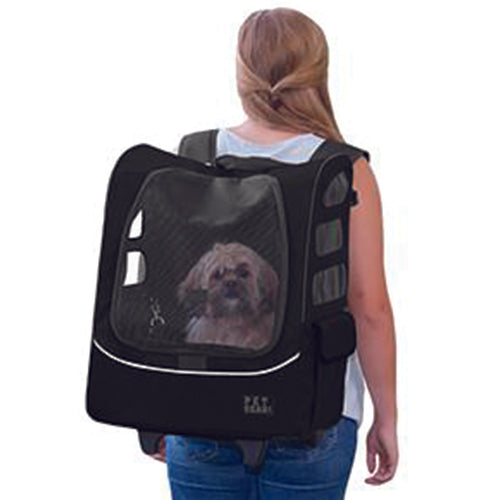 I-GO Plus (Traveler) 5-in-1 Pet Carrier [Backpack/Tote/Roller Bag/Carrier/Car Seat], Black