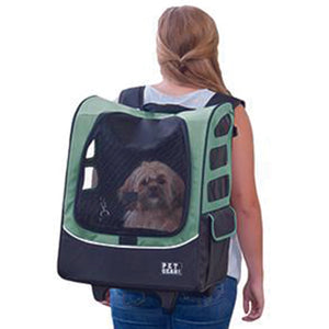 I-GO Plus (Traveler) 5-in-1 Pet Carrier [Backpack/Tote/Roller Bag/Carrier/Car Seat], Sage