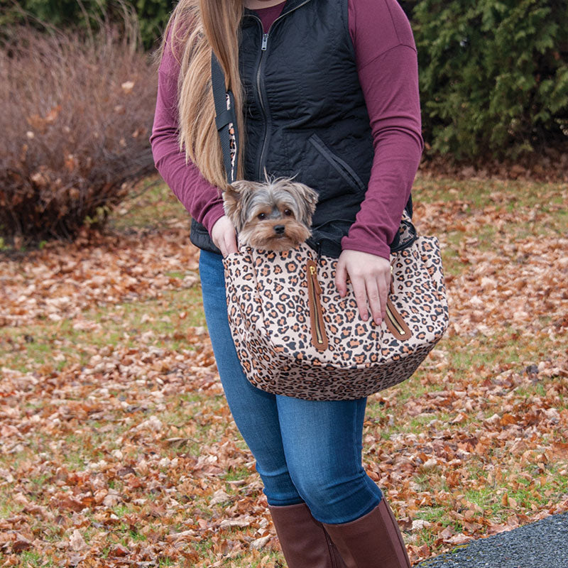 R&R Sling Pet Carrier Purse, Jaguar