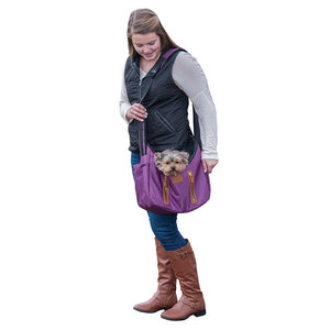 R&R Sling Pet Carrier Purse, Mulberry