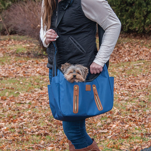 R&R Sling Pet Carrier Purse, Navy