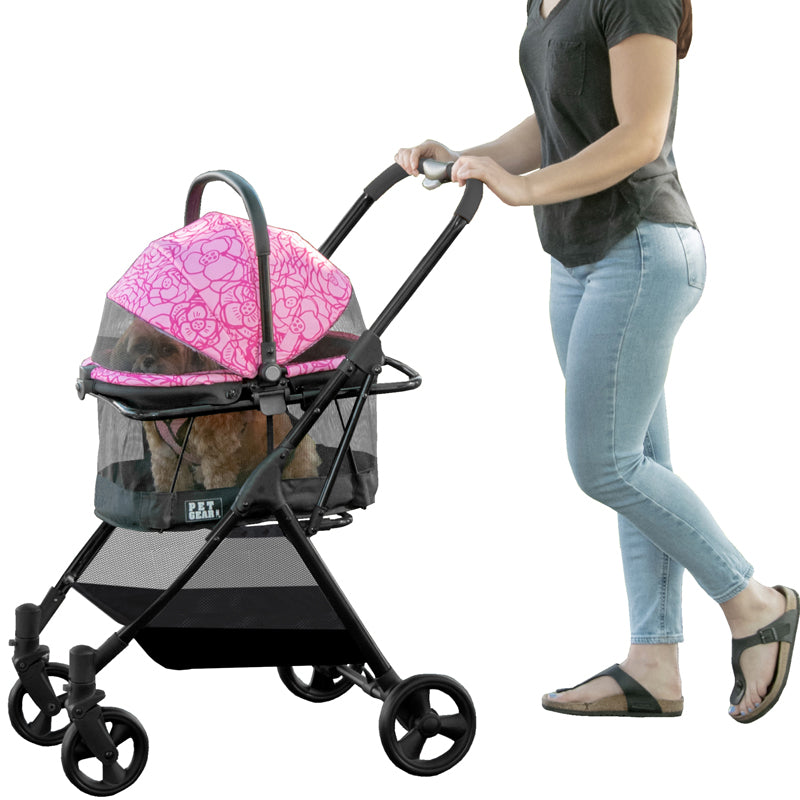 View 360 Stroller, Booster and Carrier Travel System, Pink Floral