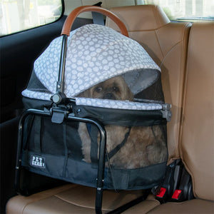 View 360 Stroller, Booster and Carrier Travel System, Silver Pearl