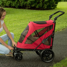 Excursion No-Zip Pet Stroller, Candy Red