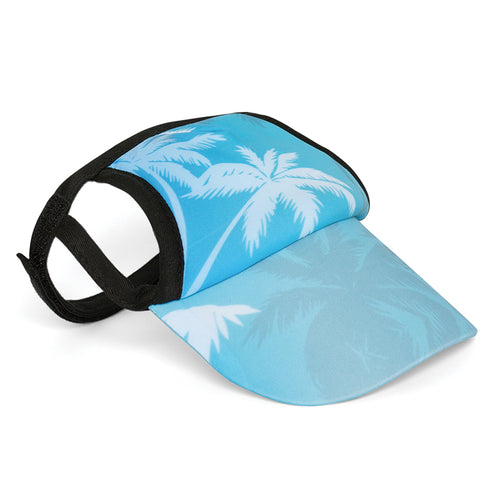 Visor, Palm Tree Blue