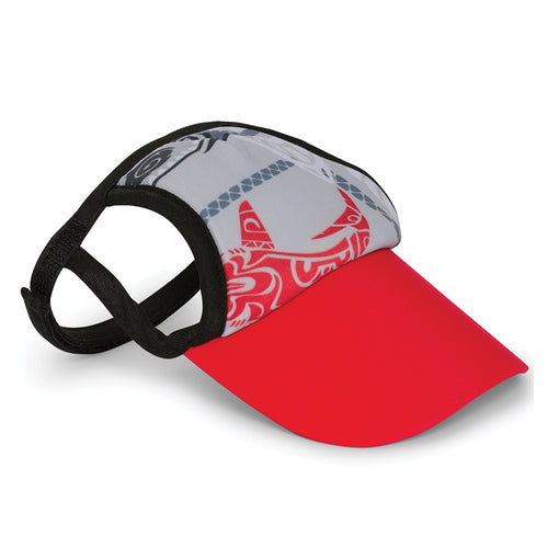 Visor, Tribal Shark Red