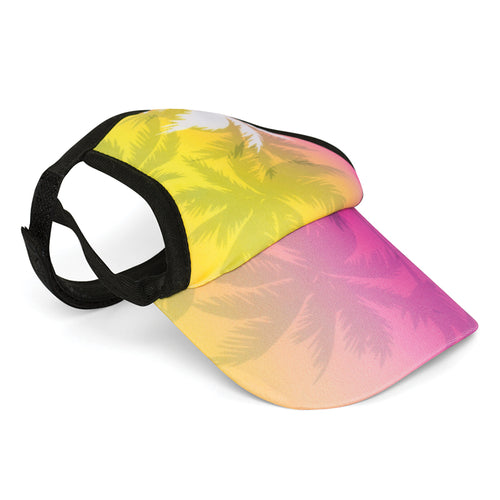 Visor, Palm Tree Pink
