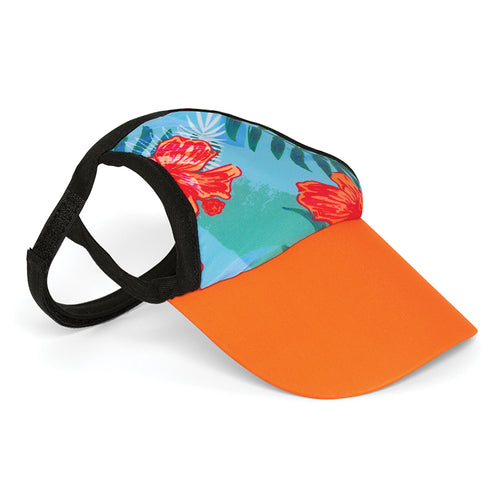 Visor, Tropical Floral Blue