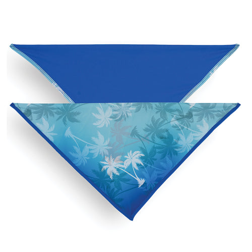 Bandana, Palm Tree Blue/Royal