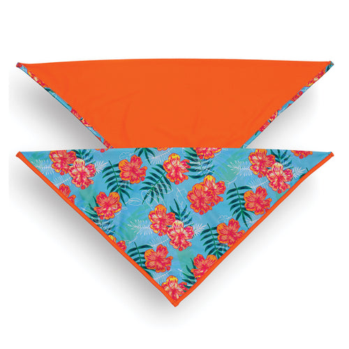 Bandana, Tropical Floral Blue/Tagate