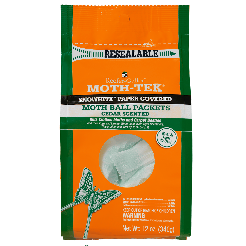 Reefer-Galler Moth-Tek Snowhite Cedar Scented Moth Ball Packets 12oz.