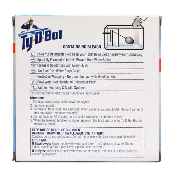 Ty-D-Bol Bleach Alternative Toilet Bowl Cleaner Tablet (2 Count)