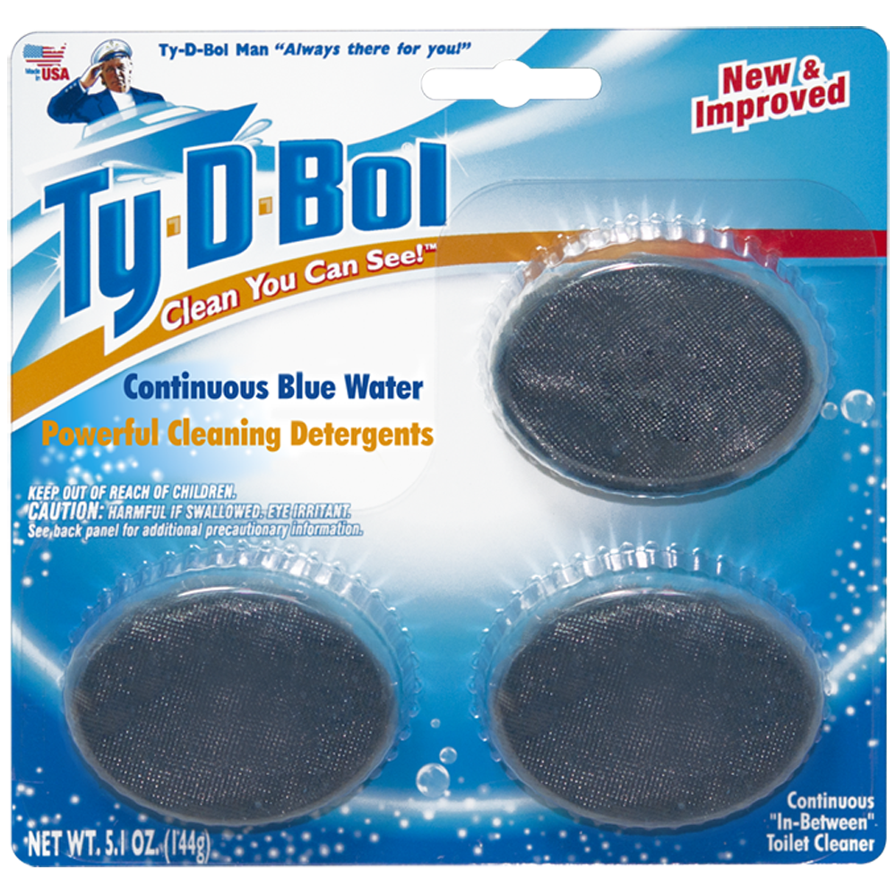 Ty-D-Bol Blue Toilet Bowl Cleaner (2 Count - 6 Tablets)