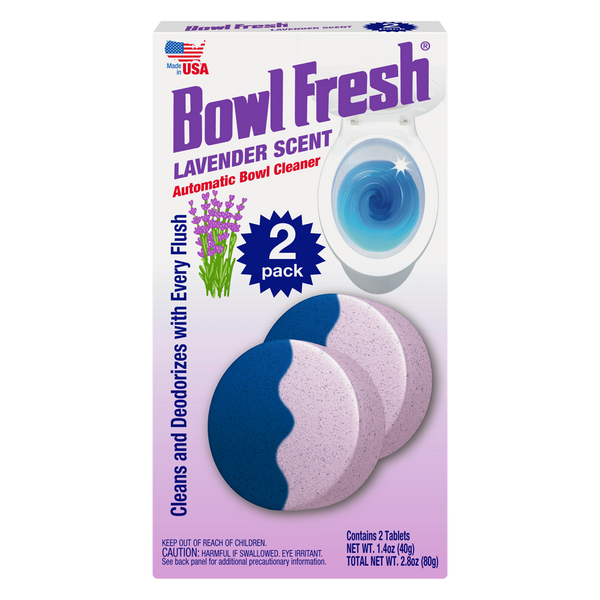 Bowl Fresh Blue/ Lavender Toilet Bowl Cleaner (2 Tablet Pack)
