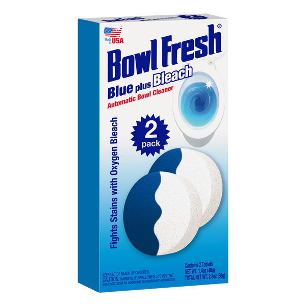 Bowl Fresh Blue plus Bleach Toilet Bowl Cleaner (2 Tablet Pack)