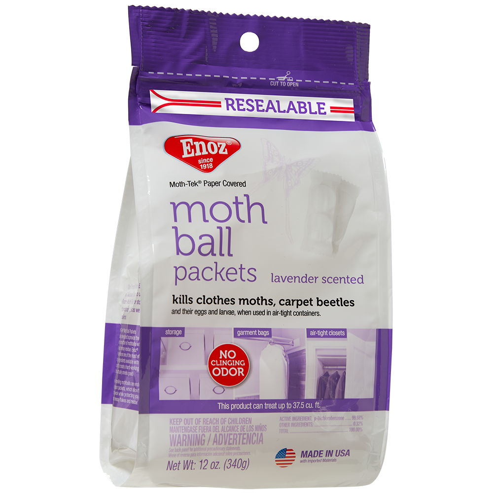 Enoz Moth Ball Packets - Lavender Scented 12 oz.