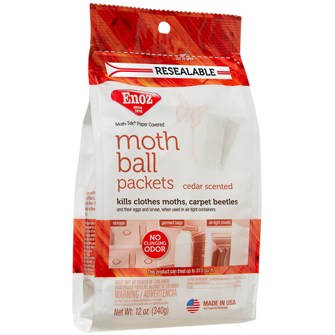 Enoz Moth Ball Packets - Cedar Scented 12 oz.