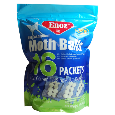 Enoz Old Fashioned Moth Balls - 16 Packets