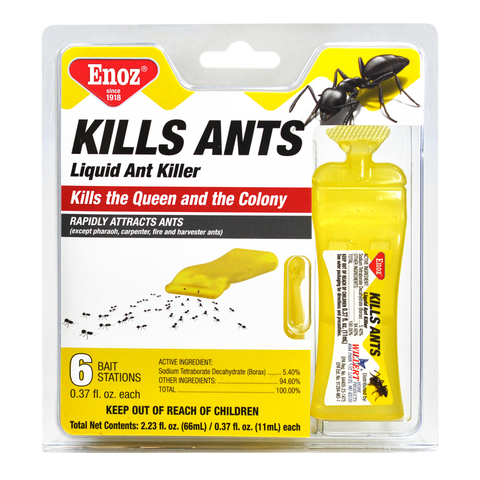 Enoz Kills Ants Liquid Ant Killer - Prefilled Ant Bait Stations
