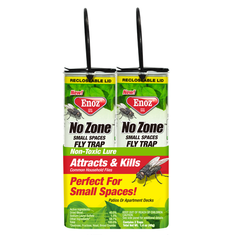 Enoz No Zone Small Spaces Fly Trap - Twin Pack