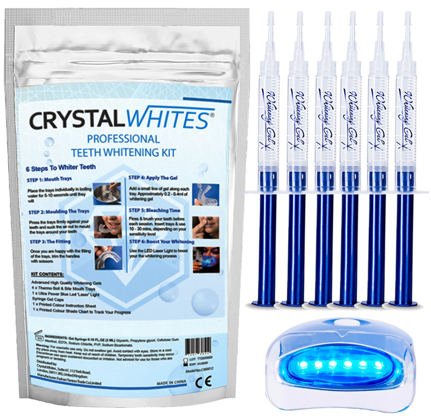 ADVANCED TEETH WHITENING KIT WITH LED LASER LIGHT
